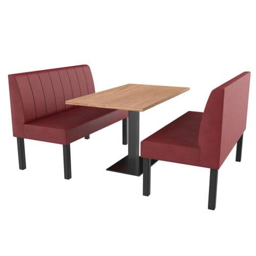 Lifetime Compact Fluted - Complete 2 Seater Booth Set - 1200mm Wide