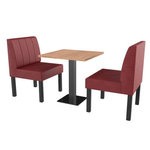 Lifetime Compact Fluted - Complete 2 Seater Booth Set - 600mm Wide