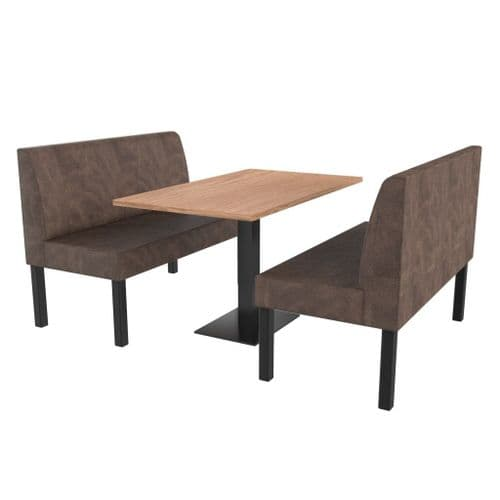Lifetime Compact Plain - Complete 2 Seater Booth Set - 1200mm Wide