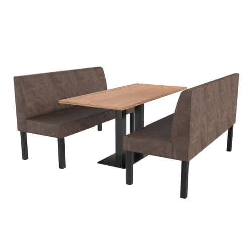 Lifetime Compact Plain - Complete 2 Seater Booth Set - 1500mm Wide