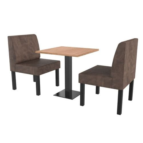 Lifetime Compact Plain - Complete 2 Seater Booth Set - 600mm Wide