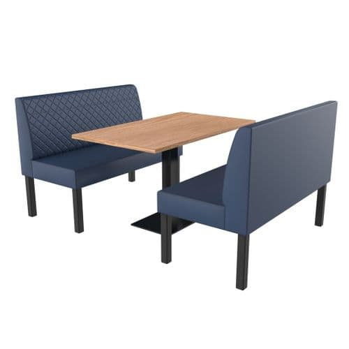 Lifetime Compact Quilted - Complete 2 Seater Booth Set - 1200mm Wide