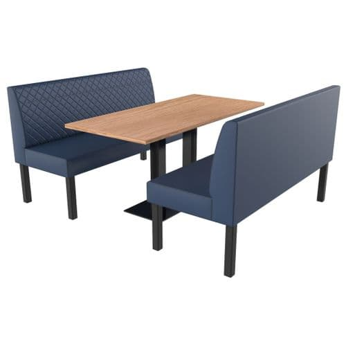 Lifetime Compact Quilted - Complete 2 Seater Booth Set - 1500mm Wide