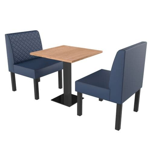 Lifetime Compact Quilted - Complete 2 Seater Booth Set - 600mm Wide