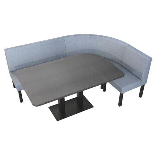 Lifetime Outdoor - Plain Back | Rounded Corner Dining Booth Set. Includes Table