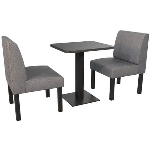 Lifetime Outdoor - Plain back. Couples 2 Seater Dining Booth Set. Includes Table