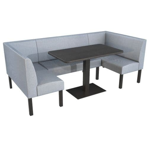 Lifetime Outdoor - Plain back. Family and Groups Large Dining Booth Set. Includes Table