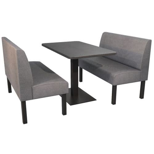 Lifetime Outdoor - Plain back. Family Large 4 Seater Dining Booth Set. Includes Table