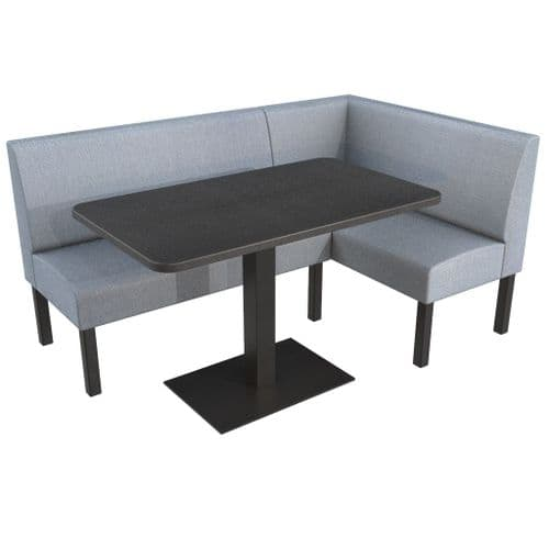 Lifetime Outdoor - Plain back. Groups Corner Dining Booth Set. Includes Table