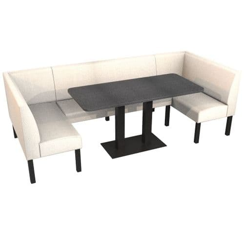 Lifetime Outdoor - Plain back. Groups Extra Large Corner Dining Booth Set. Includes Table