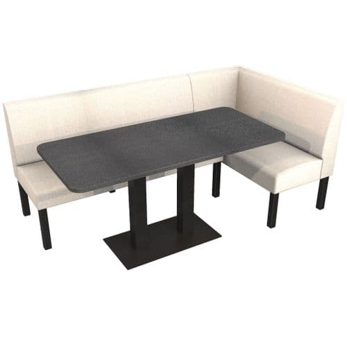 Lifetime Outdoor - Plain back. Large Groups Corner Dining Booth Set. Includes Table