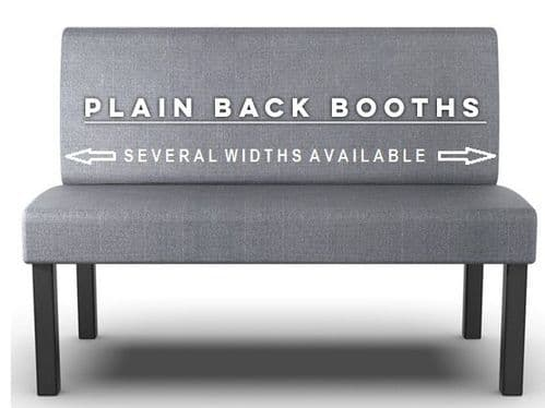 Lifetime Outdoor -  Plain Back. Straight Booth Seats - Various Sizes
