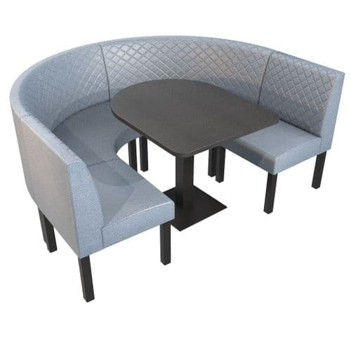 Lifetime Outdoor - Quilted Back | U Corner Dining Booth Set. Includes Table