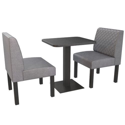 Lifetime Outdoor - Quilted Back. Couples 2 Seater Dining Booth Set. Includes Table