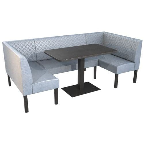 Lifetime Outdoor - Quilted Back. Family and Groups Large Dining Booth Set. Includes Table