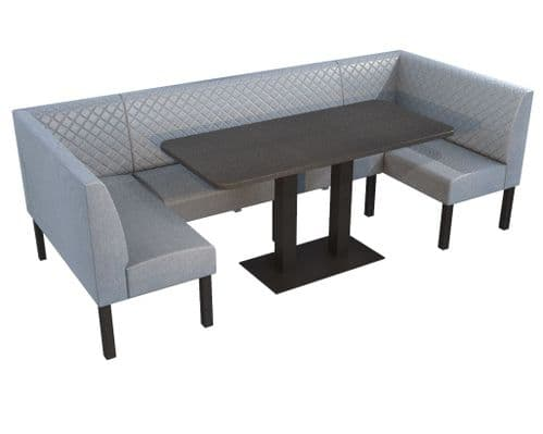 Lifetime Outdoor - Quilted Back. Family and Groups XL Dining Booth Set. Includes Table