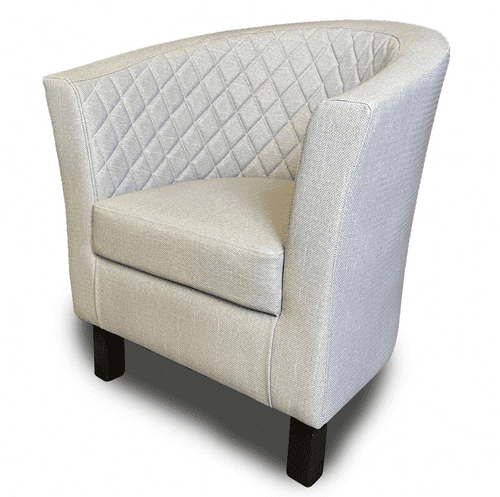 Lifetime OUTDOOR - Quilted Back.  Monaco Tub Style Arm Chair . Upholstery in 4 Colours
