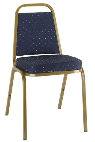 Molly Gold Frame Stacking Chair-Blue Pattern