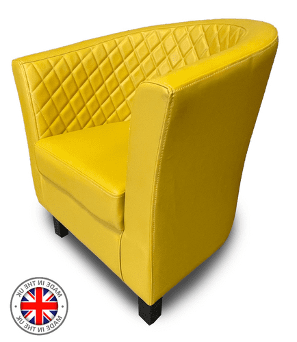 Monaco Designer Tub Style Chair - Luxurious Deep Quilted Back Design in 60 Colours