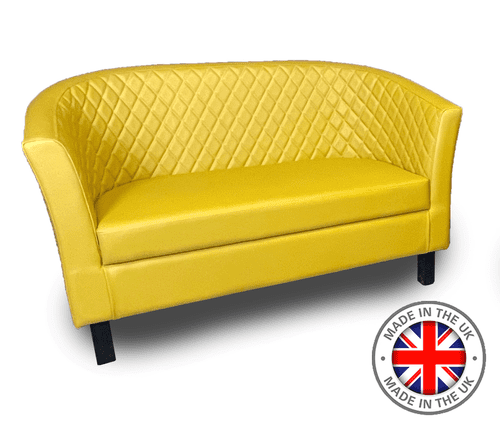 Monaco Designer Tub Style Sofa - Luxurious Deep Quilted Back Design in 60 Colours