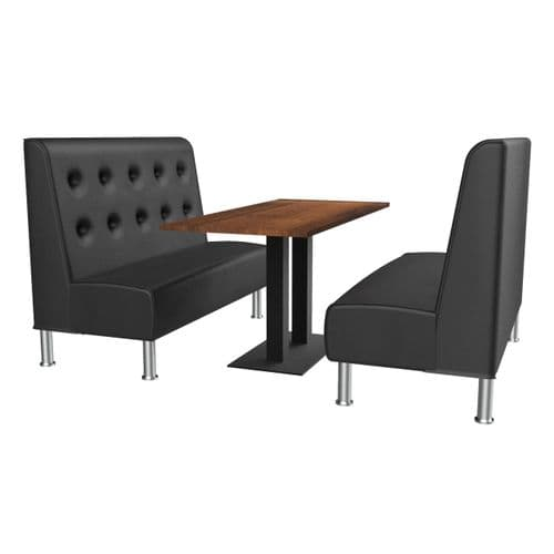 Montana Floating Button Back 6 Seater Booth Set