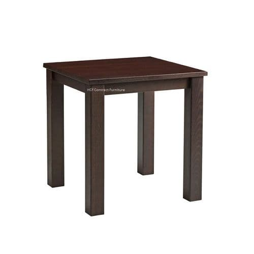 Oslo 700mm x 700mm Complete Dining Table - Dark Walnut (P)