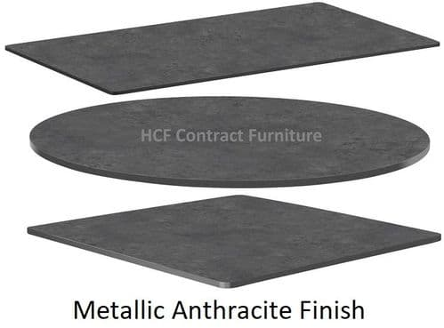 Quartzite HP Laminate Table Tops 12mm Thick - Anthracite