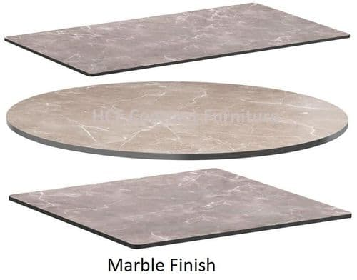 Quartzite HP Laminate Table Tops 12mm Thick - Marble Finish
