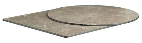 Quartzite HP Laminate Table Tops 12mm Thick - Marble Grey