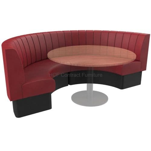 Round Booth Seating Deep Fluted - Large 1/2 Circle