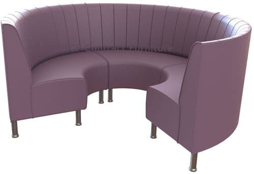 Round Booth Seating - Small 3/4 Circle on Legs