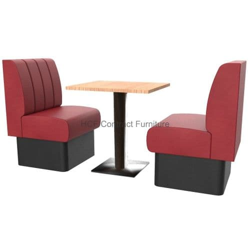 Royale Deep Fluted and Roll Top 2 Seater Booth Set