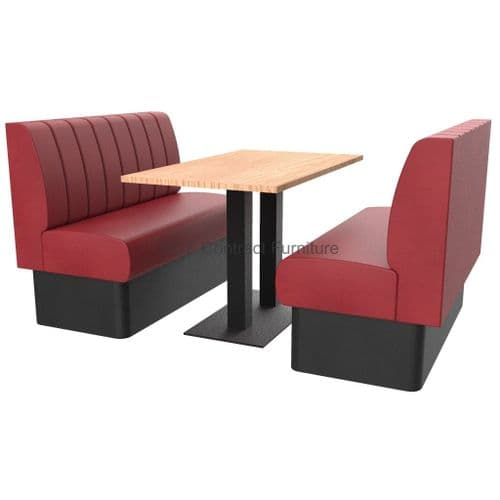Royale Deep Fluted and Roll Top 4 Seater Booth Set