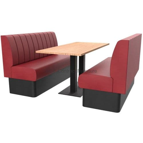 Royale Deep Fluted and Roll Top 6 Seater Booth Set