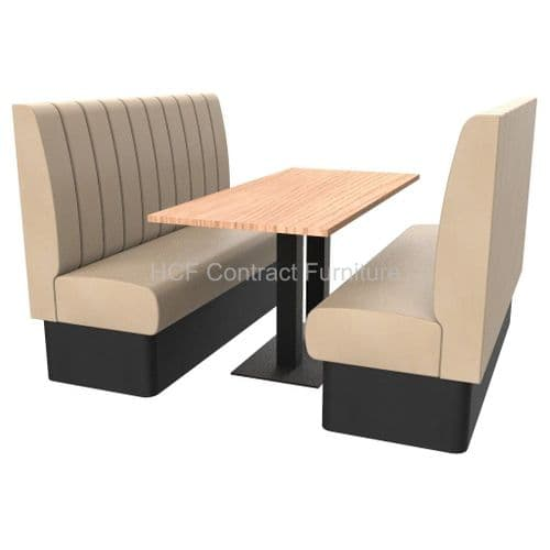 Royale Deep Fluted High Back 6 Seater Booth Set