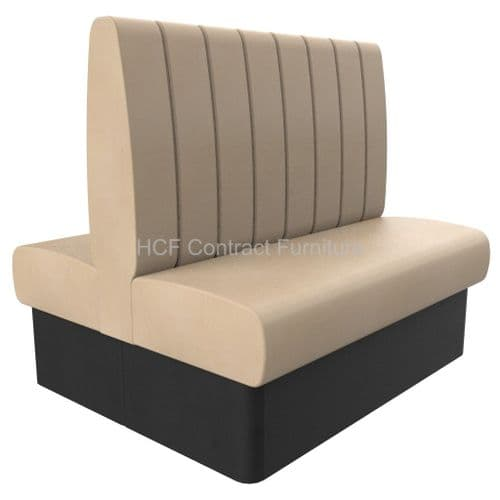 Royale Deep Fluted High Back Twin Back2Back - 1200mm Booth