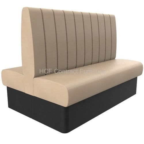 Royale Deep Fluted High Back Twin Back2Back - 1500mm Booth