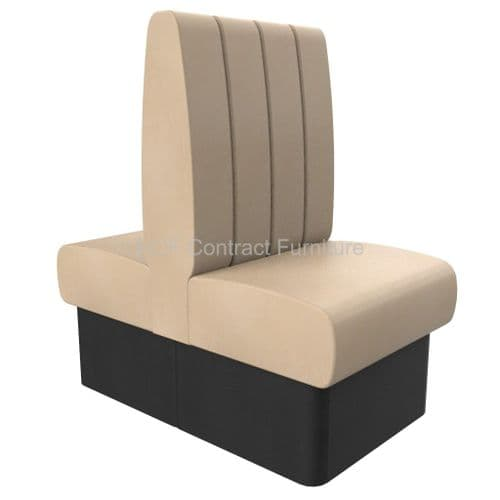 Royale Deep Fluted High Back Twin Back2Back - 600mm Booth