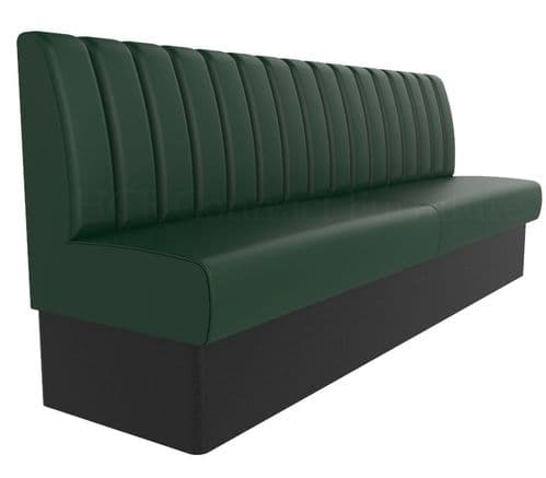 Royale Deep Fluted & Roll Top Banquette Booth Seating - Standard Height