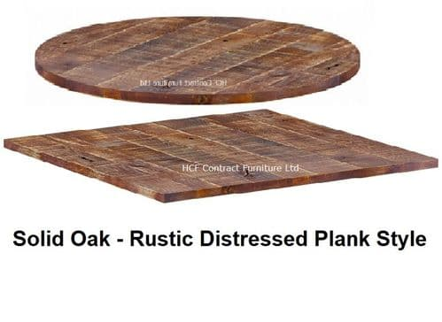 Rustic Solid Oak Table Tops 23mm Thick (P)