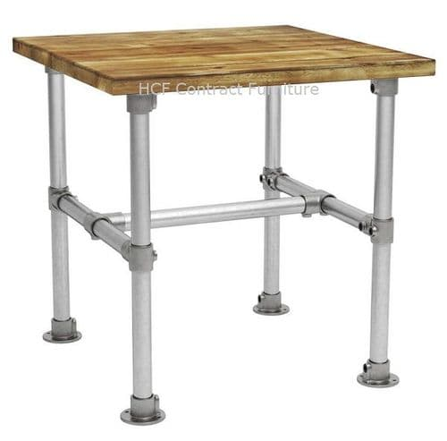 Scaffold Complete 700mm Sq Dining Table (P)