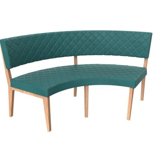 Simplicity Deluxe Quilted - Round Booth Seating  -       Large 1/4 Circle