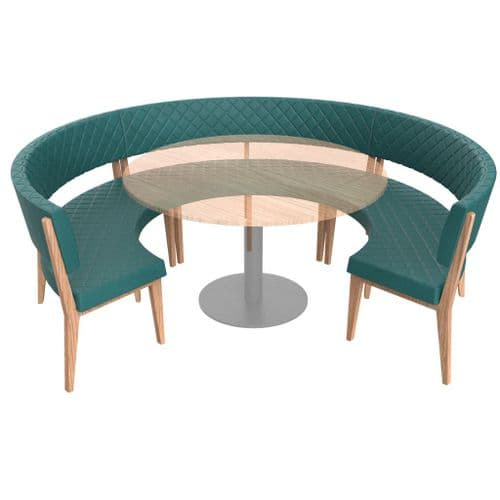 Simplicity Deluxe Quilted - Round Booth Seating  -       Large 3/4 Circle