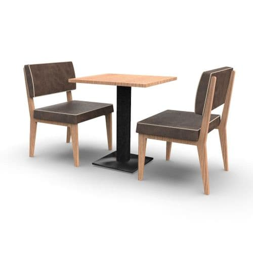 Simplicity Elegant - Complete 2 Seater Booth Set  -       600mm wide