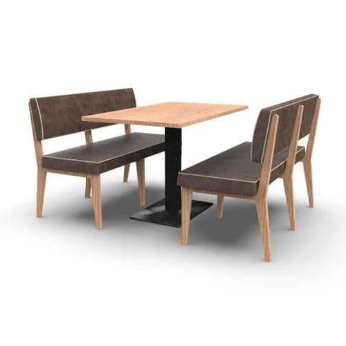 Simplicity Elegant - Complete 4 Seater Booth Set - 1200mm Wide - Includes Table