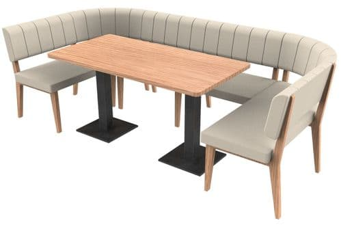 Simplicity Luxury - Large Rounded Rectangle Booth Set & Table
