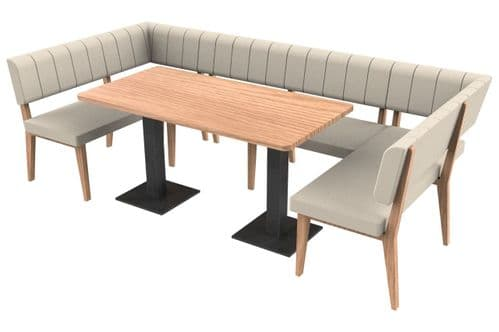 Simplicity Luxury - Large Squared Rectangle Booth Set & Table