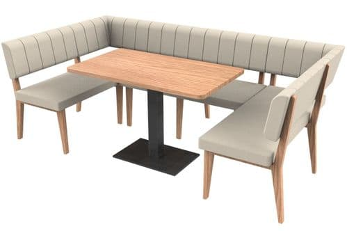 Simplicity Luxury - Medium Squared Rectangle Booth Set & Table