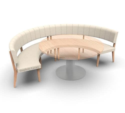 Simplicity Luxury - Round Booth Seating  -       Large 1/2  Circle