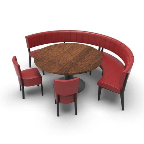 Simplicity Luxury - Round Booth Seating  - Large 1/2  Circle with Table and Chairs